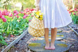 Woman in a Spring garden