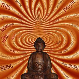 Buddha figurine, meditating