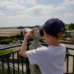 Eldest surveying the view at the Model Railway Village, Clonakilty