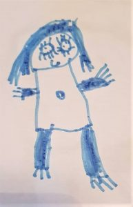 Youngest's drawing of his 'Nursewy Teecha'