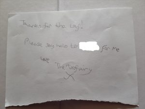 The second Toothfairy note