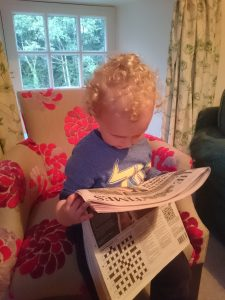 Youngest 'reading' The Times in 2016